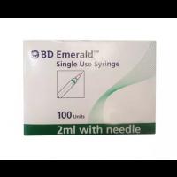 BD Emerald 2ml Syringe with 22G Needle